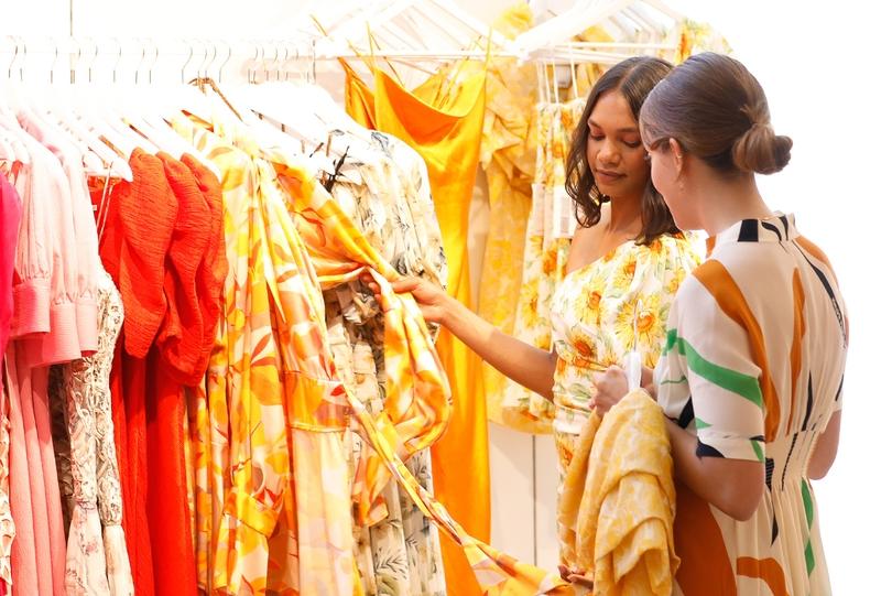 customer service at Glam Corner pop up store at David Jones