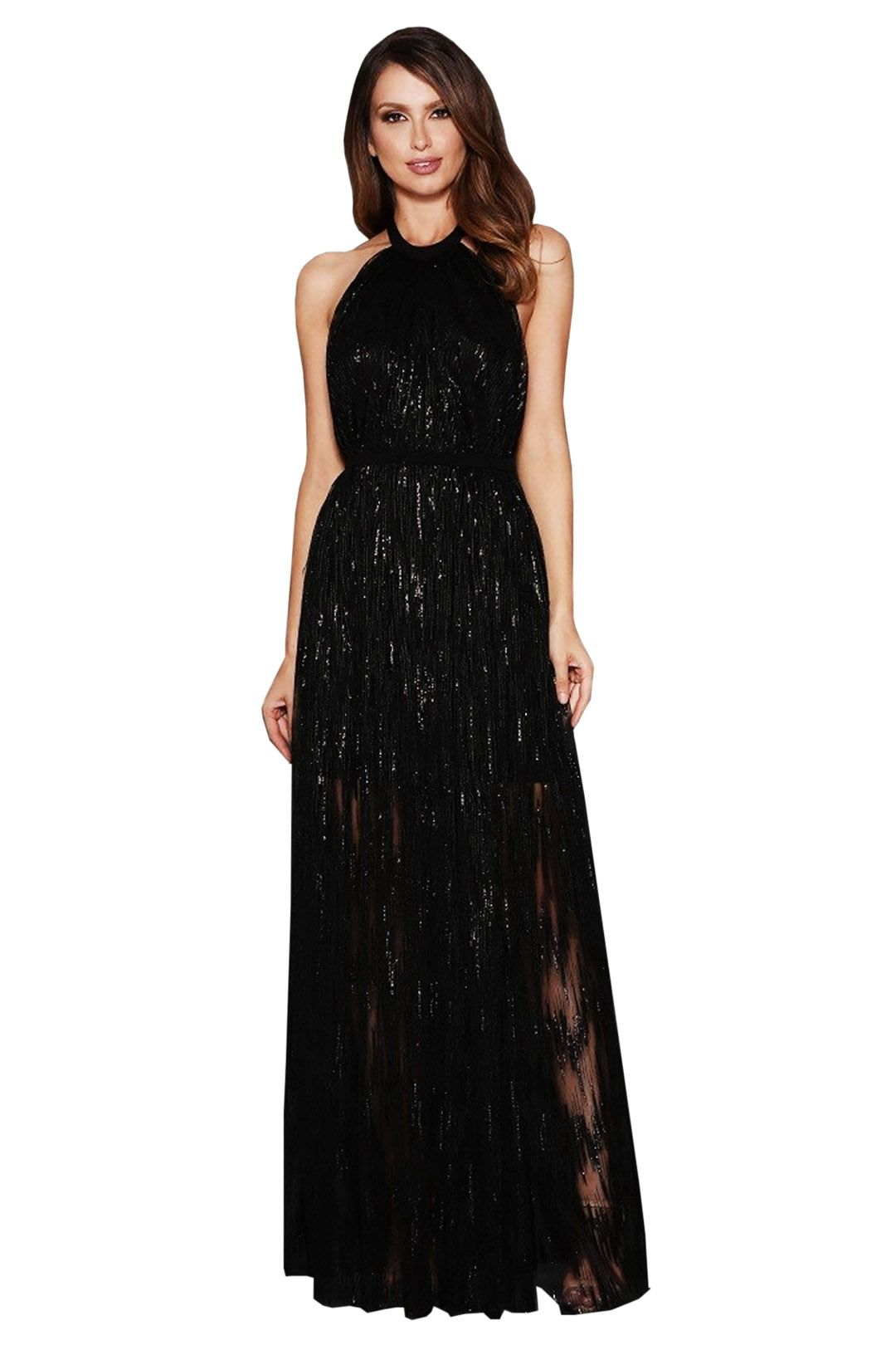 Elle Zeitoune - Gwyneth Gown - Black - Front