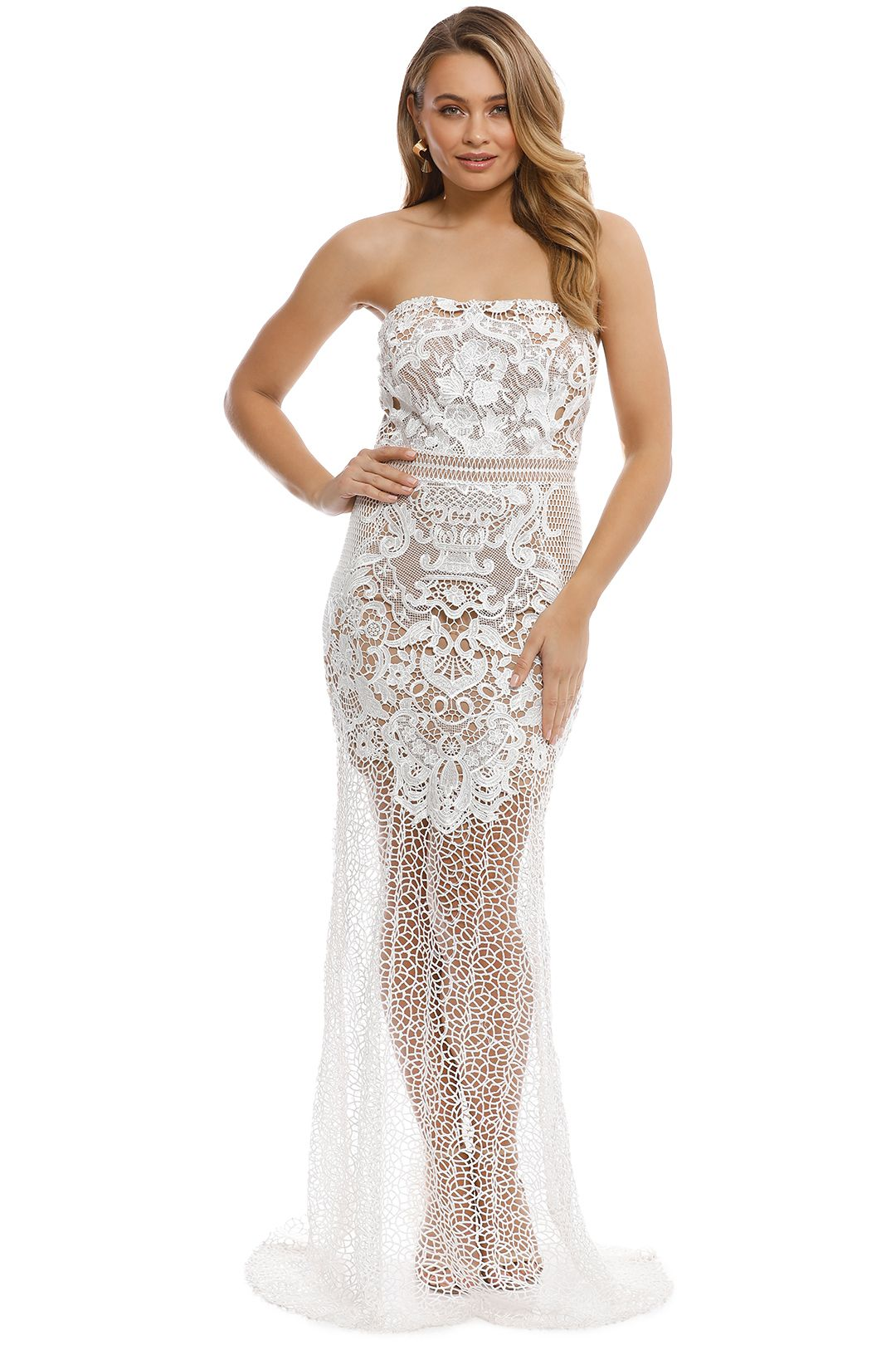 Grace and Hart - Adele Gown - White - Front