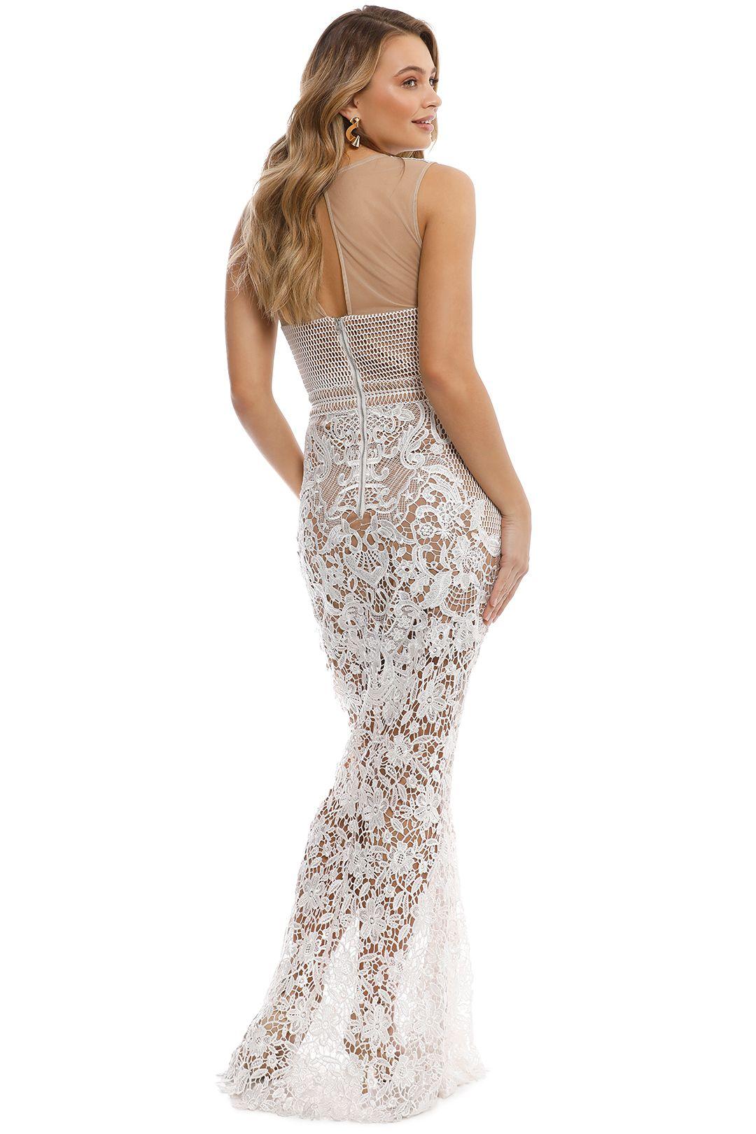Grace & Hart - Renaissance Gown - White - Back
