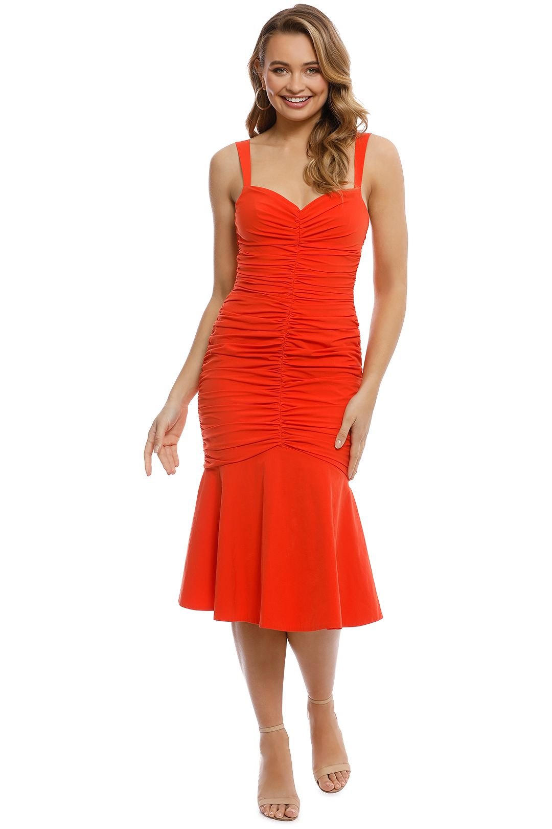 Rebecca Vallance - Brescia Midi Dress - Orange - Front