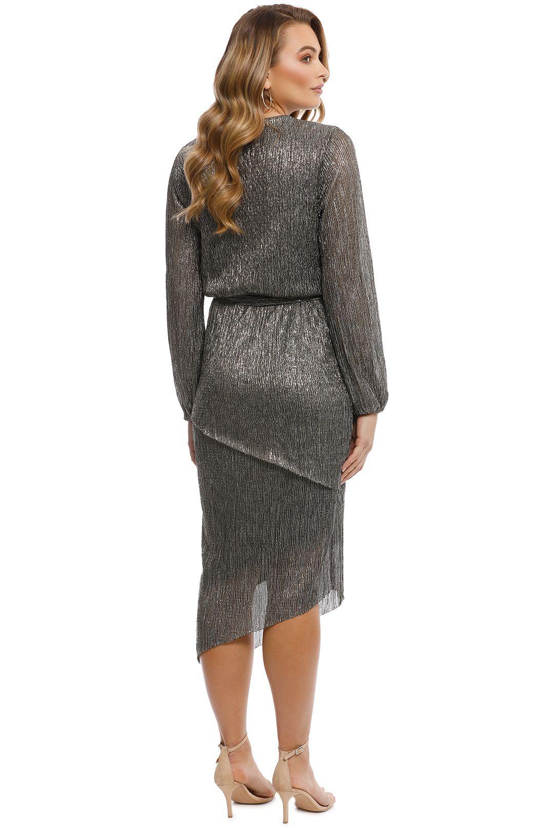 Rebecca Vallance - Paparazzi Drape Long Sleeve Dress - Back