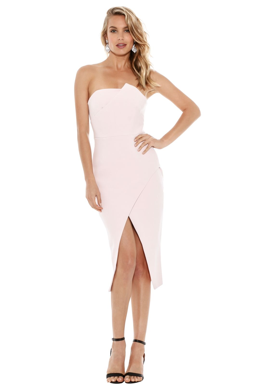 Talulah - Could It Be Midi Dress - Light Pink - Front