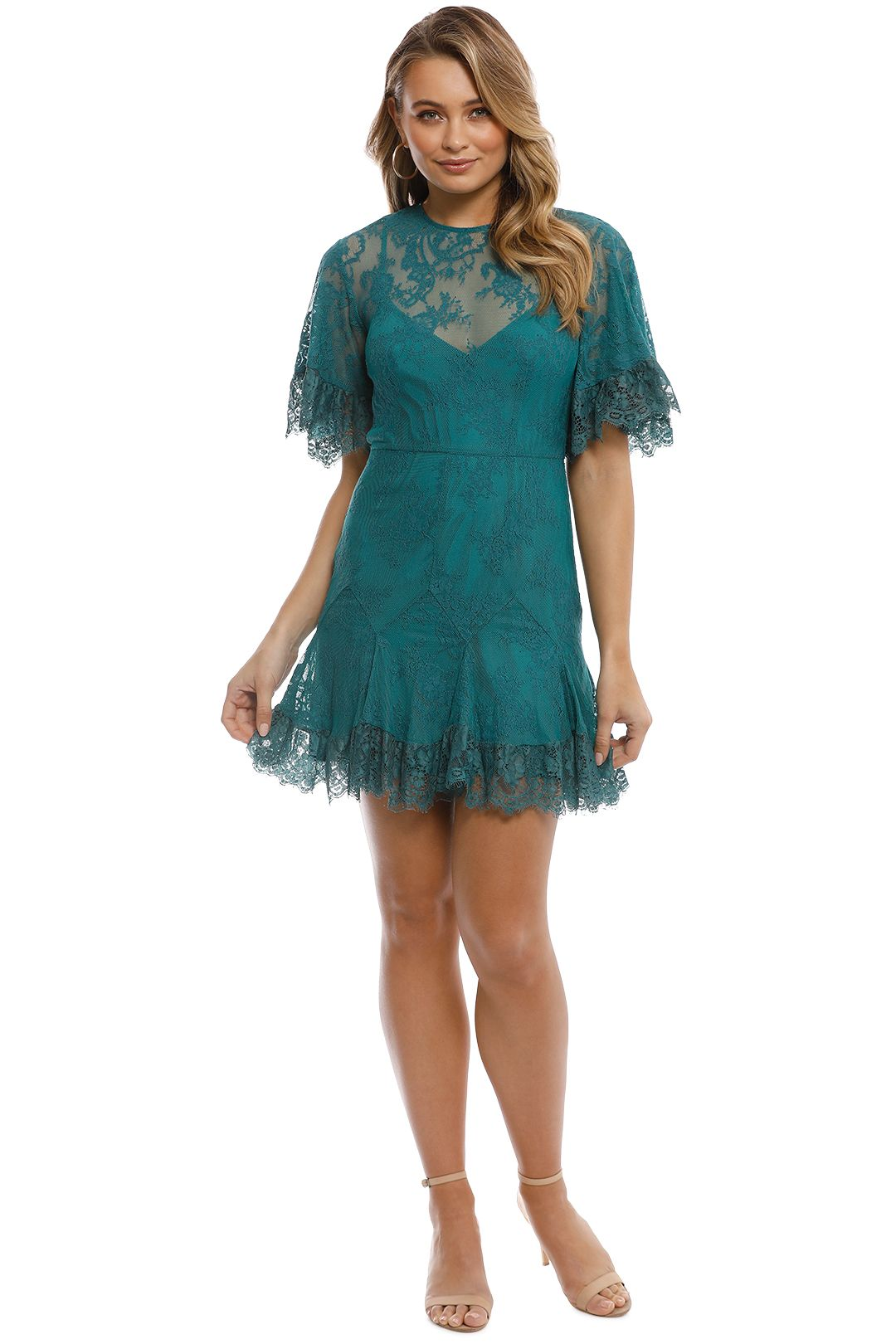 Talulah - Blind Love Mini Dress - Emerald - Front