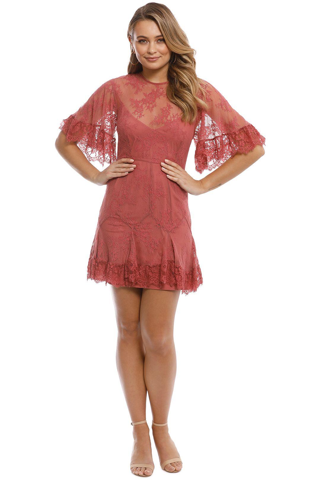 Talulah - Blind Love Mini Dress - Rosewood - Front