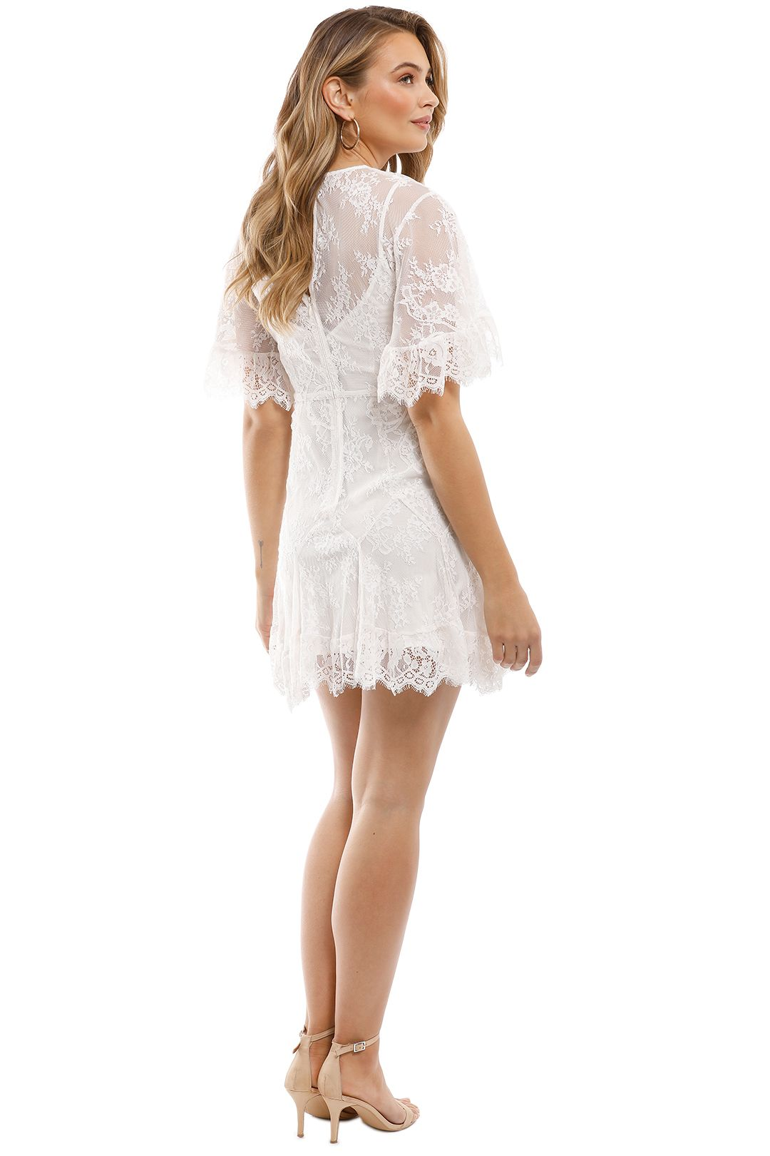 Talulah - Blind Love Mini Dress - White - Back