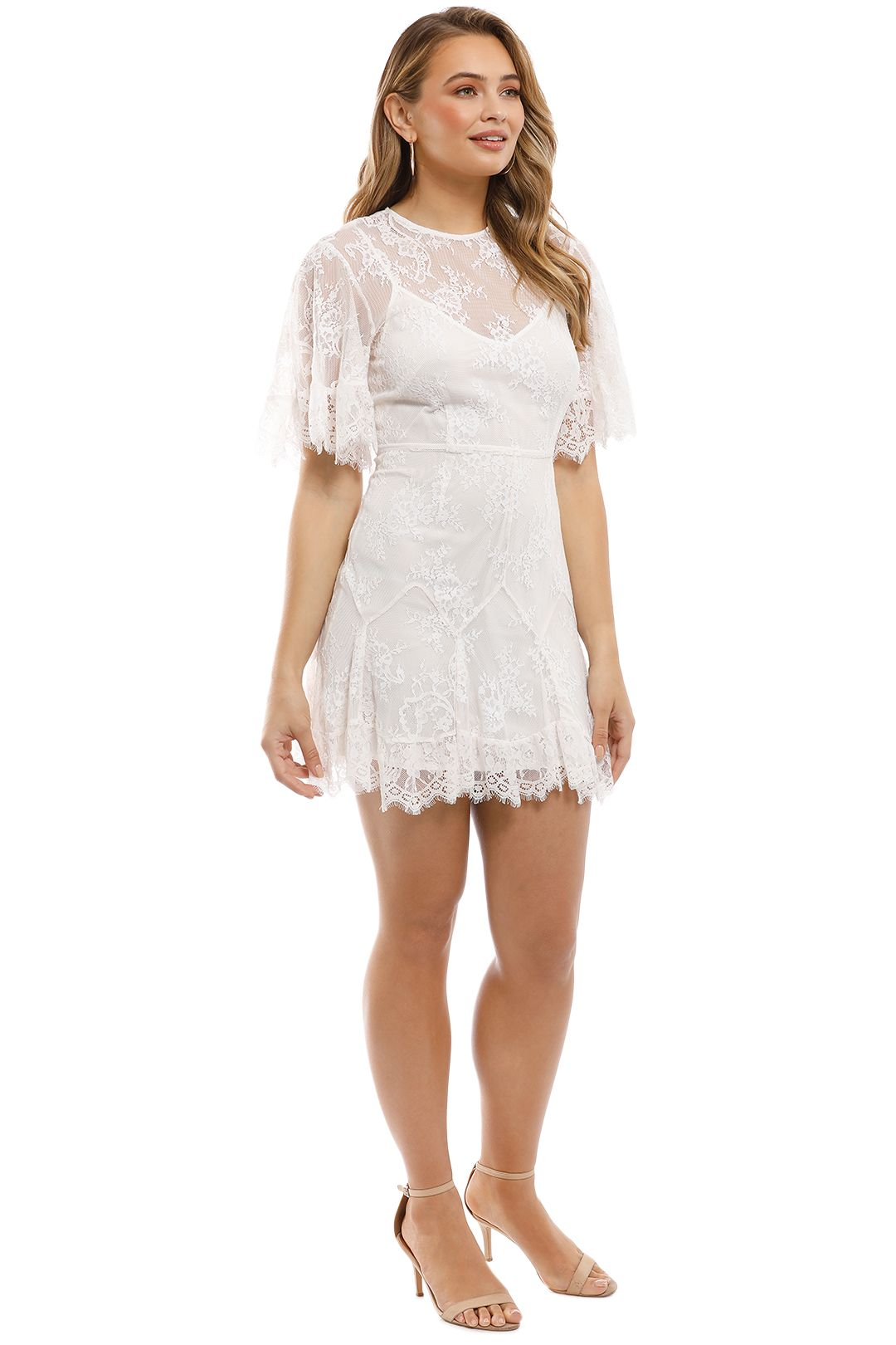 Talulah - Blind Love Mini Dress - White - Side