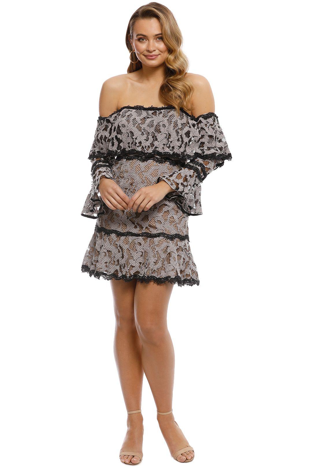 Talulah - Genre Off Shoulder Dress - Blush - Front