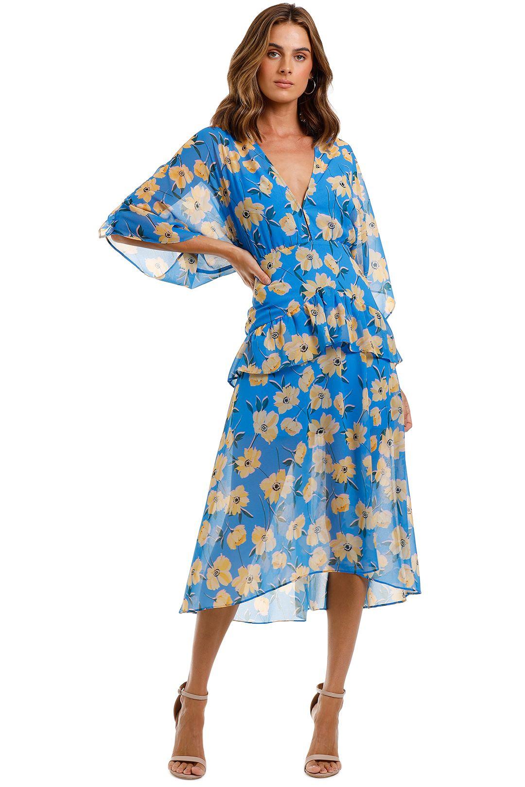 Talulah Sicily Sway Midi Dress floral long sleeve