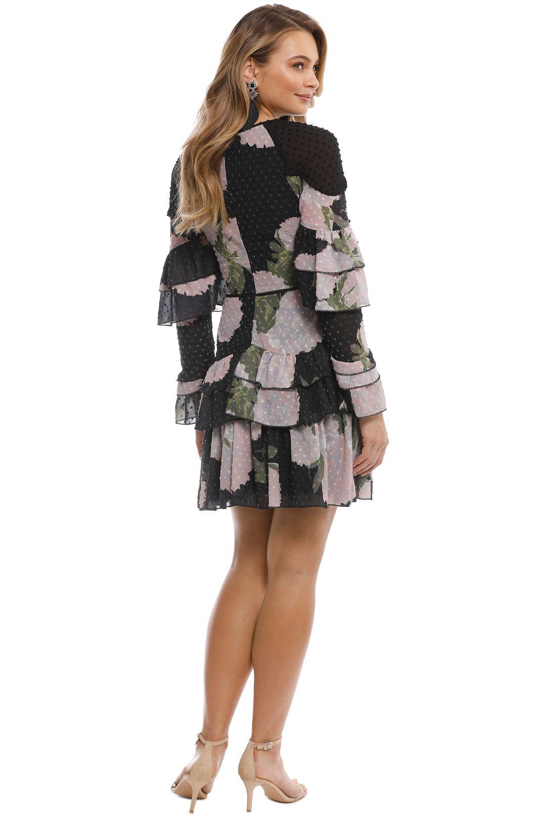 Talulah - New Woman Ruffle Mini Dress - Black Floral - Back