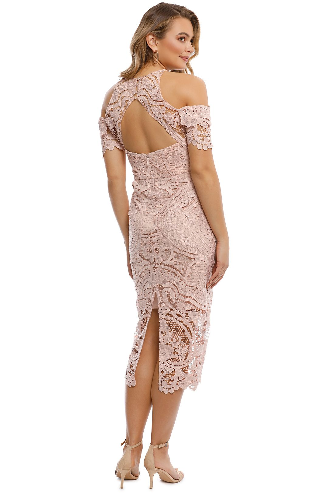 Thurley - Bouquet Dress - Nude - Back