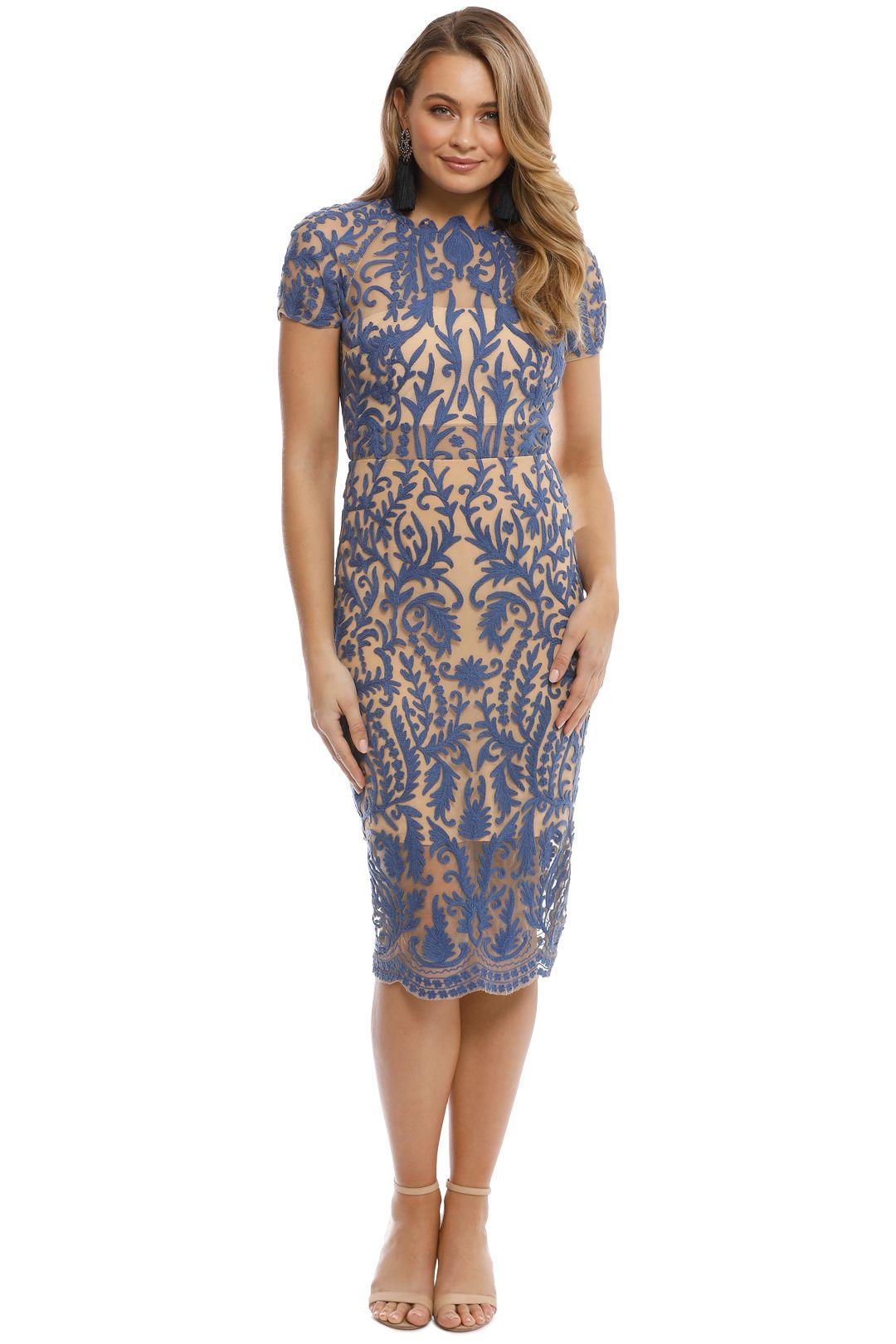 Thurley - Pandora Dress - Blue - Front