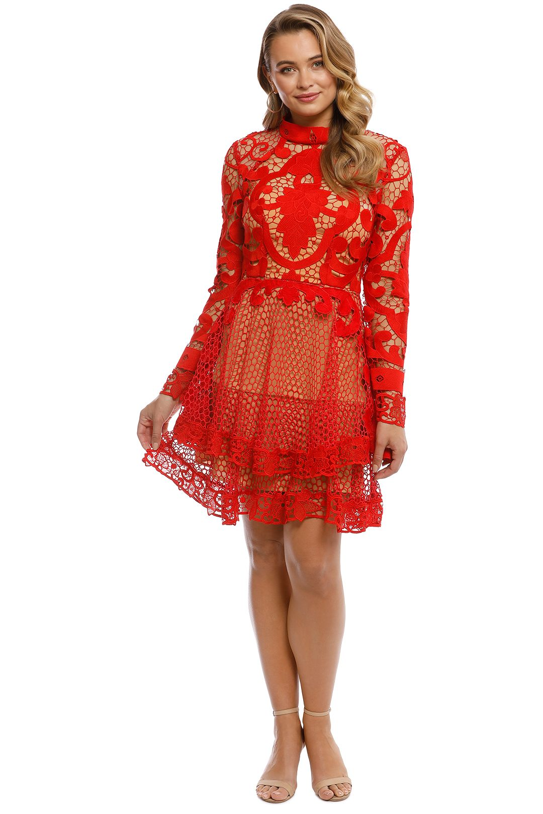 Thurley - Rose Ceremony Mini Dress - Red - front