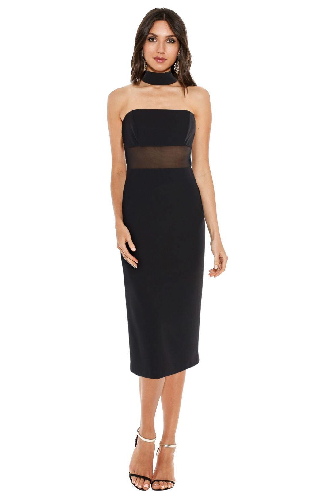 ABS by Allen Schwartz - Olivia Cocktail Dress - Black - Front