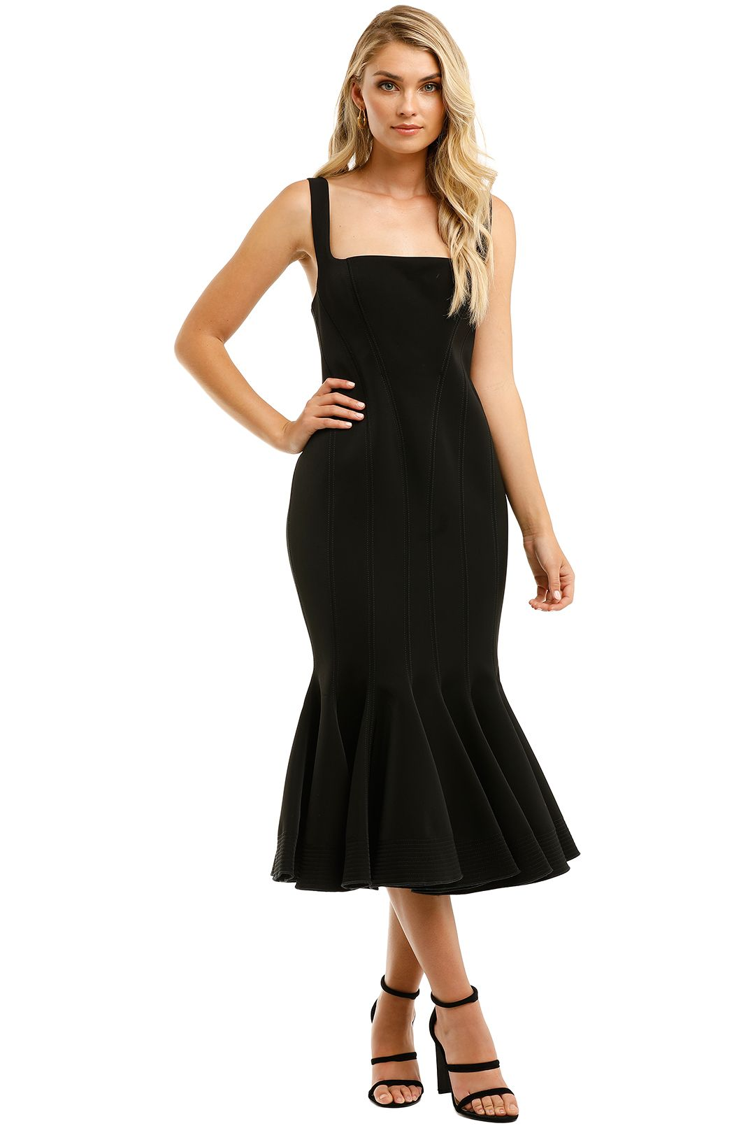 Acler-Mawson-Dress-Black-Front
