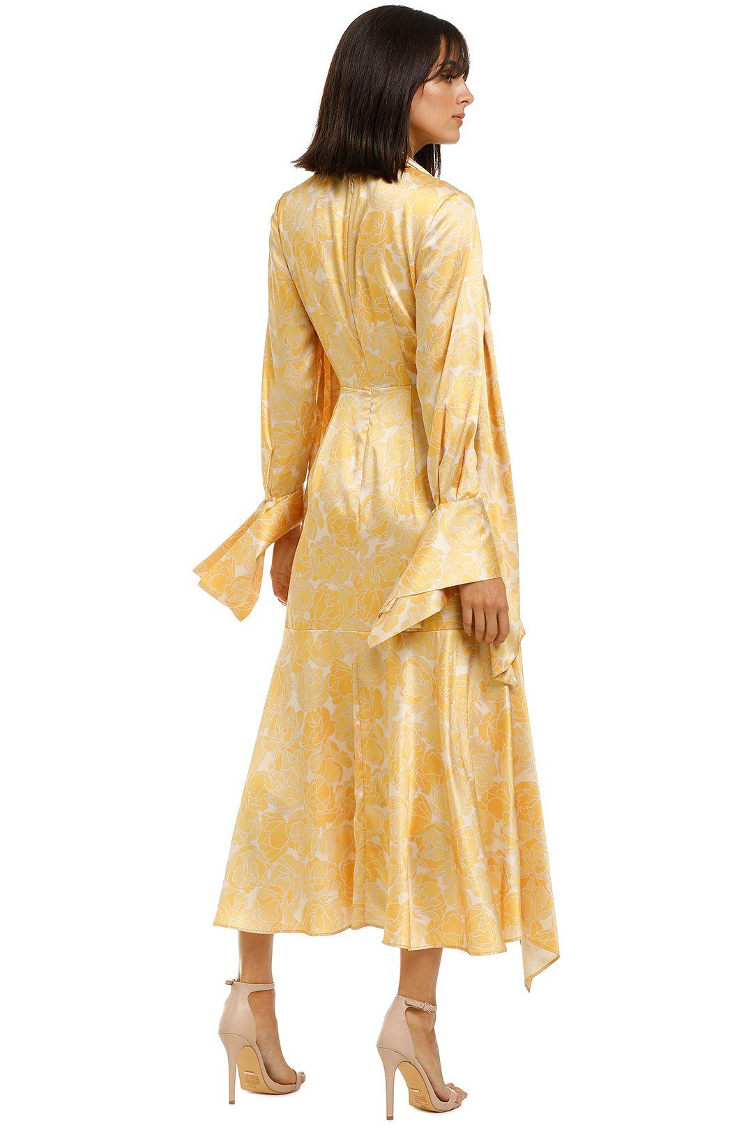 Acler-Wallace-Dress-Lemon-Floral-Back