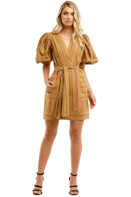 Acler-Wyatt-Dress-Burnt-Caramel-Front