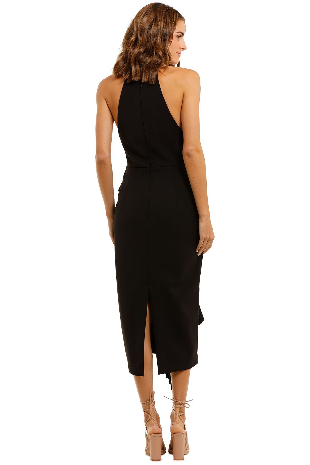 Acler Bercy Midi Dress Black