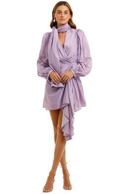 Acler Blackburn Dress Lilac Blouson sleeves