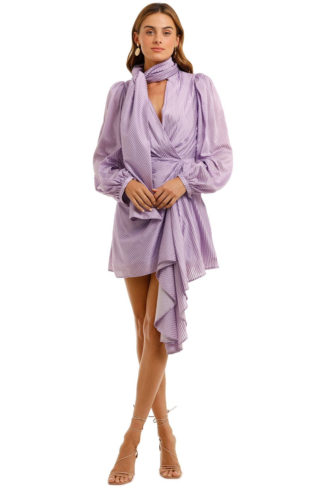 Acler Blackburn Dress Lilac Blouson sleeves
