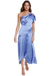 Acler Bonham Dress Wedgewood one shoulder