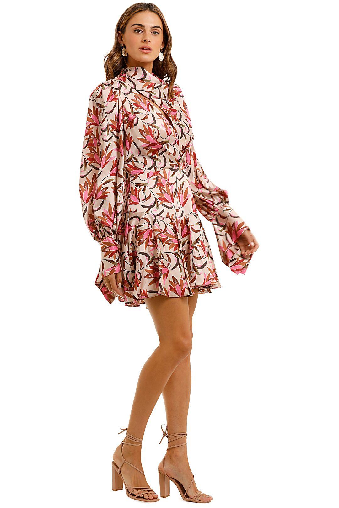 Acler Coleman Mini Dress Floral