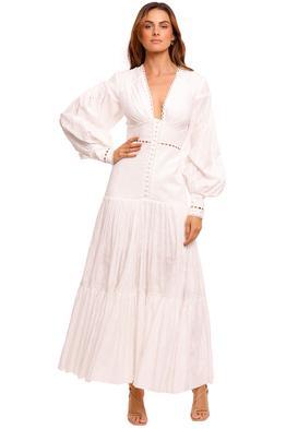 Acler Hender Dress Ivory balloon sleeve