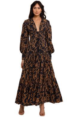 Acler Hender Dress Midnight full skirt