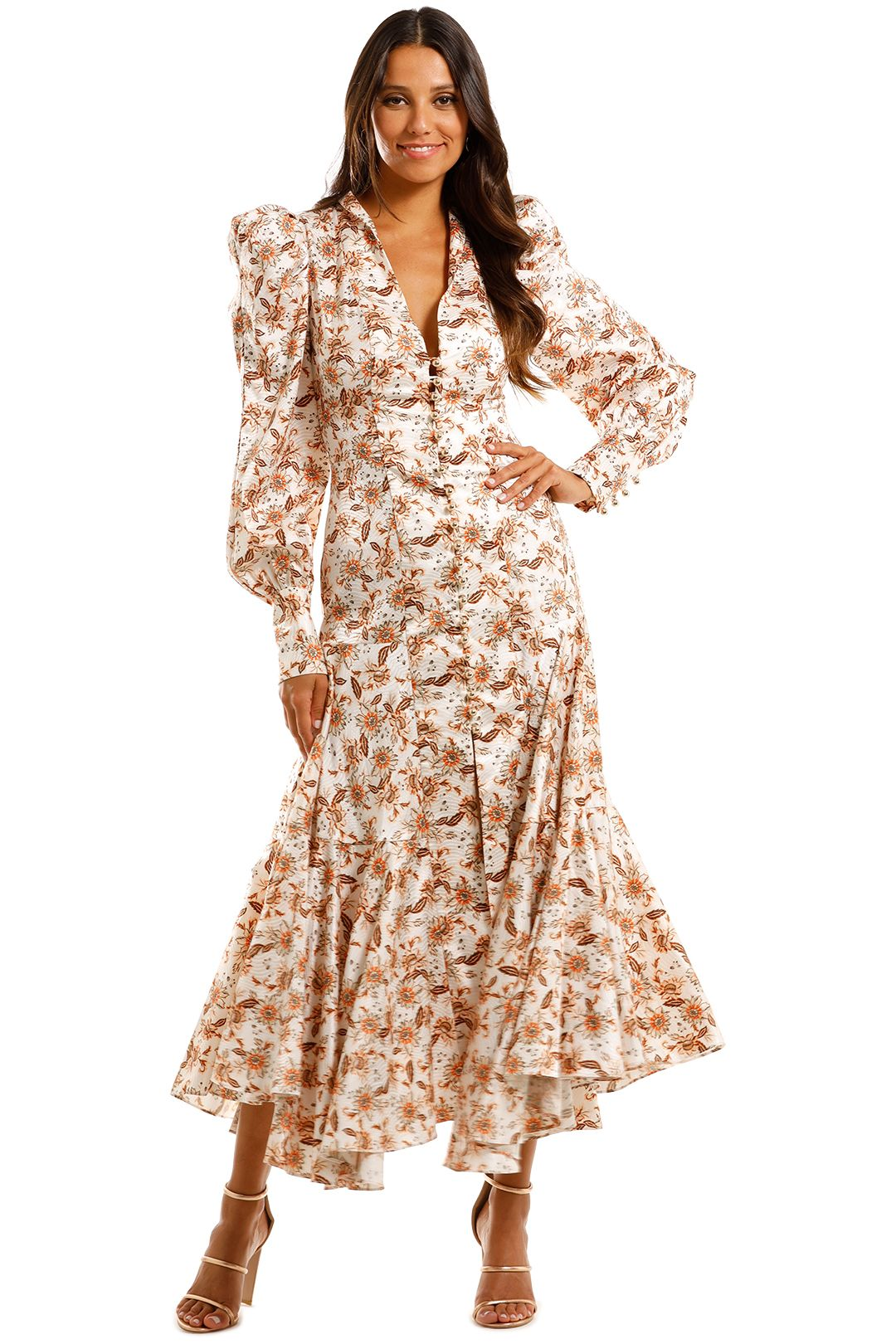 Acler Horrock Long Dress Floral Paisley