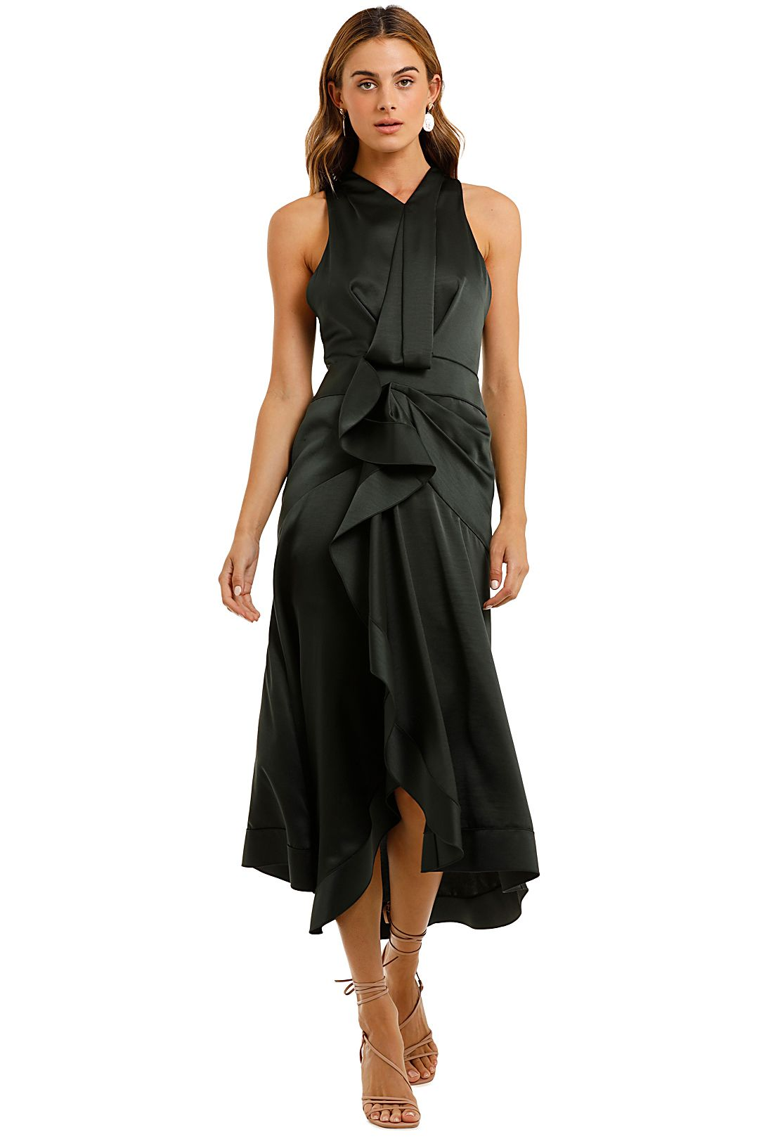 Acler Millbank Dress Forest Green