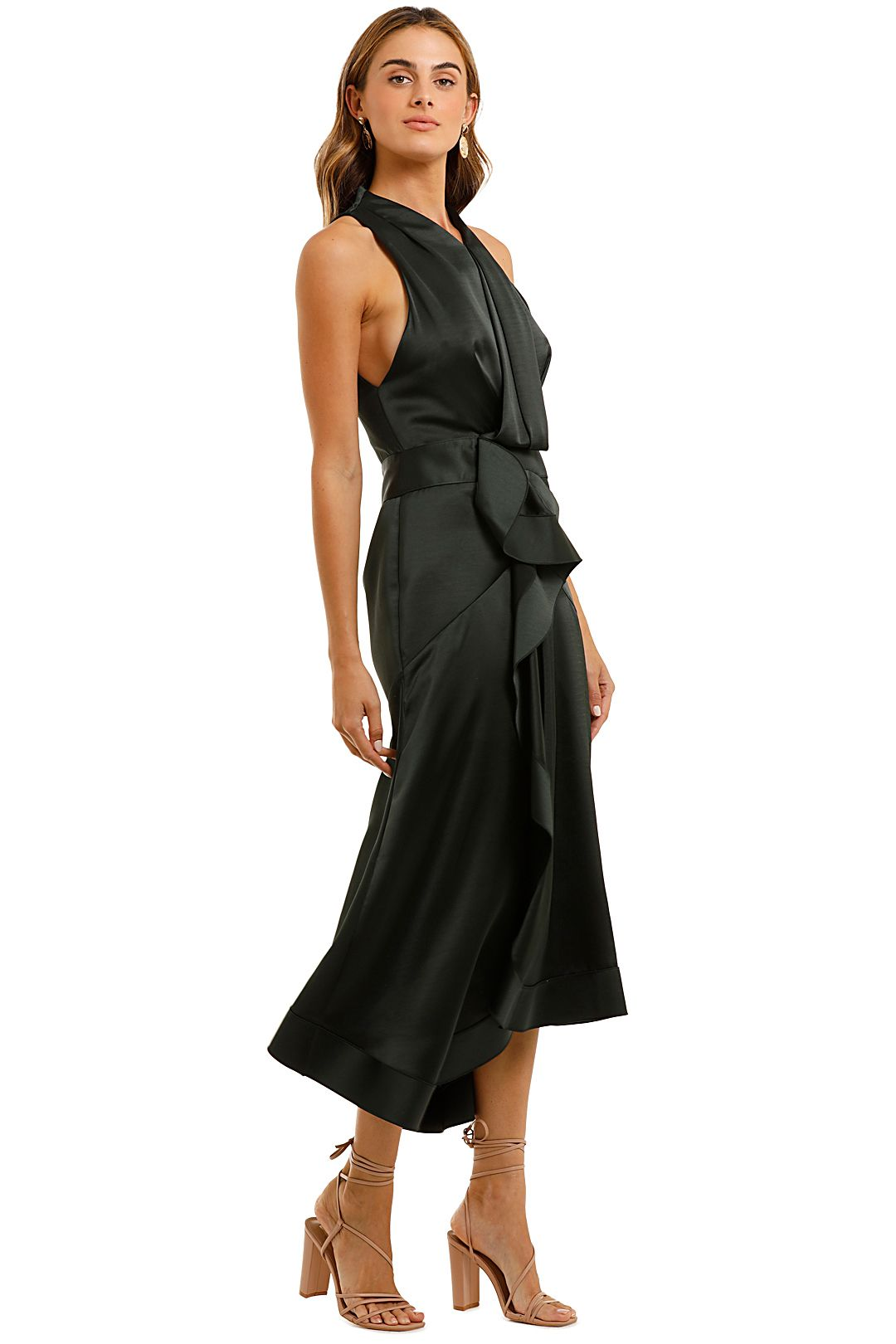 Acler Millbank Dress Forest Green Draped