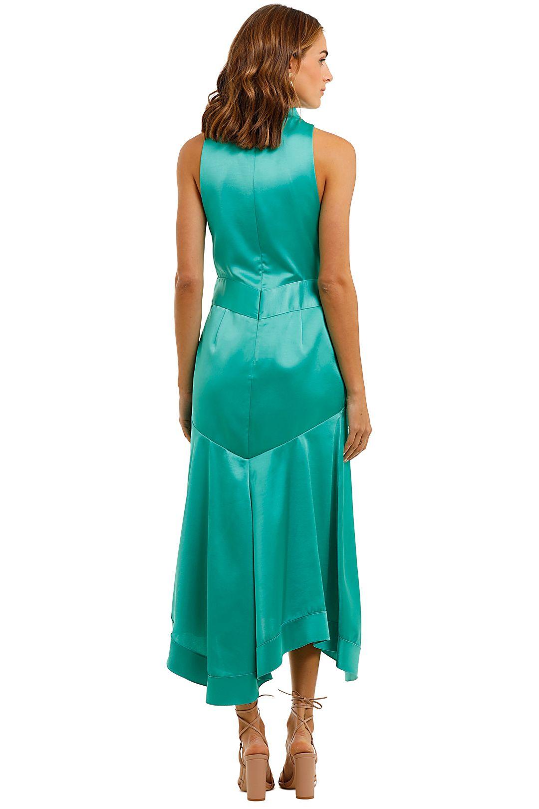 Acler Millbank Dress Green Satin