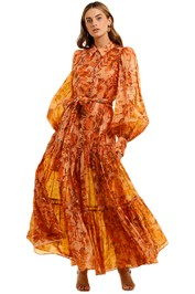 Acler Naples Dress Orange