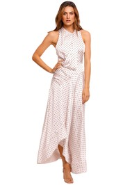 Acler Palmera Long Sleeveless Dress polka dot