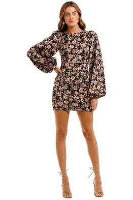 Acler Waterman Puff Sleeve Mini Dress