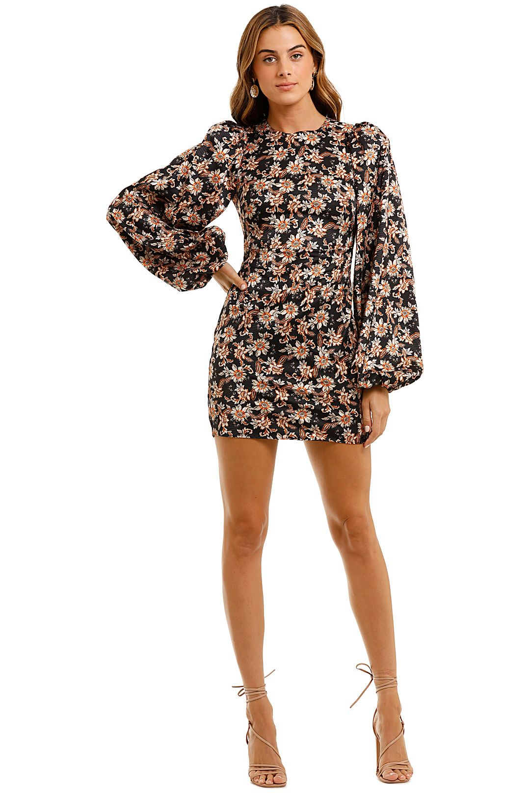 Acler Waterman Puff Sleeve Mini Dress