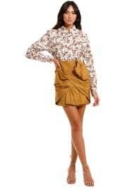 Acler Willow Cotton Collared Shirt long sleeve