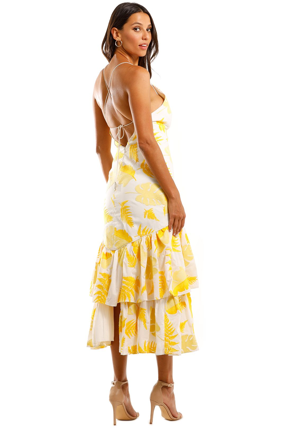 Acler Wray Dress Fit and Flare Backless