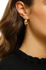 Adorne-Twisted-Hoop-Earrings-Gold-Front