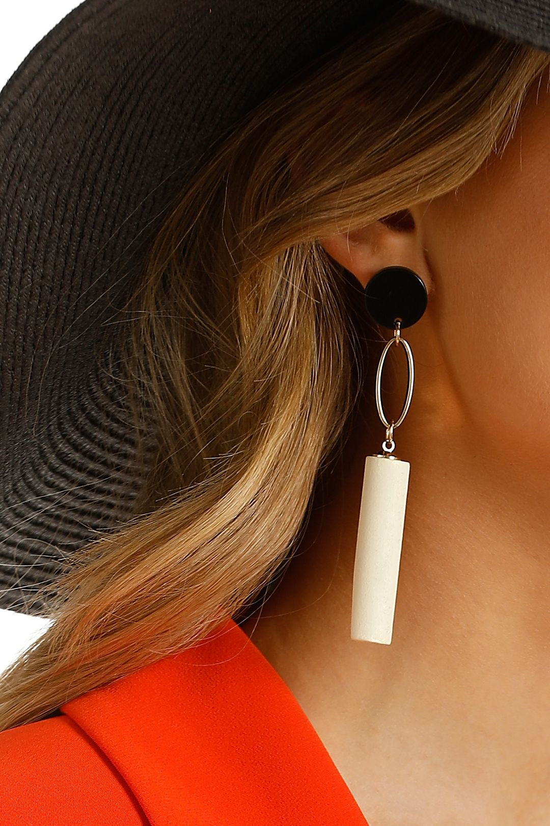 Adorne - Timber Rod Metal Loop Earrings