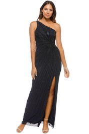 Adrianna Papell - One Shoulder Long Dress - Front