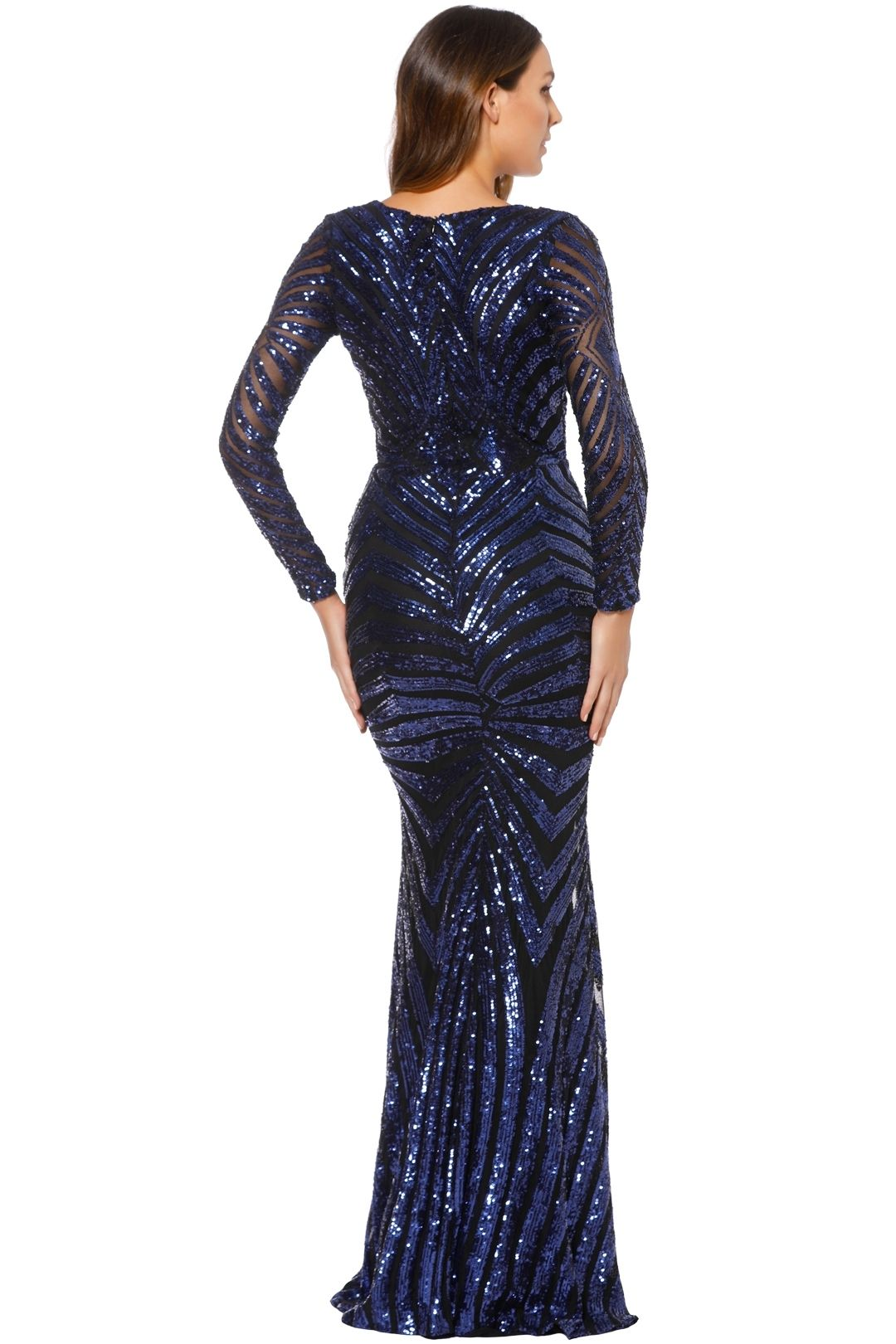 Image result for NAVY AND GOLD SEQUIN GOWN