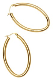 Afine-Kiana-Oval-Earrings-Gold-Product
