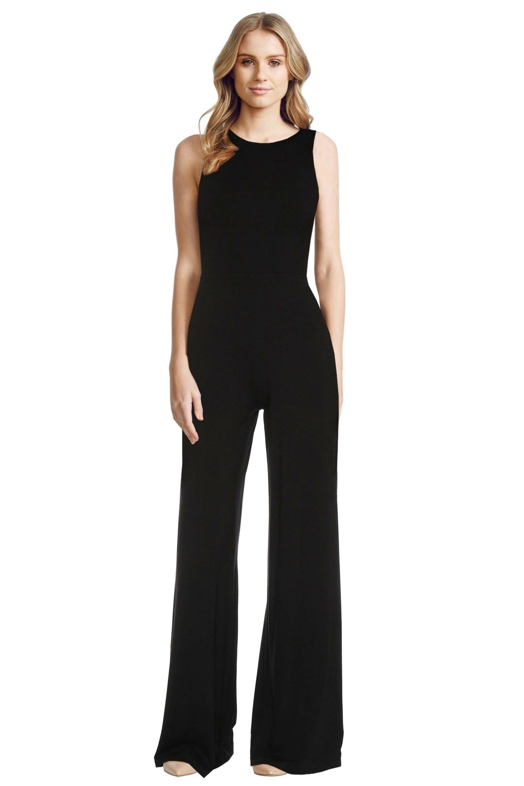 Alice and Olivia - Judee Racer Back Jumpsuit - Front