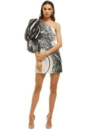 AJE-Ackham-Dress-Black-White-Front