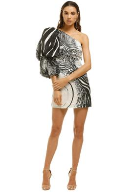 AJE-Ackham-Dress-Black-White-Front