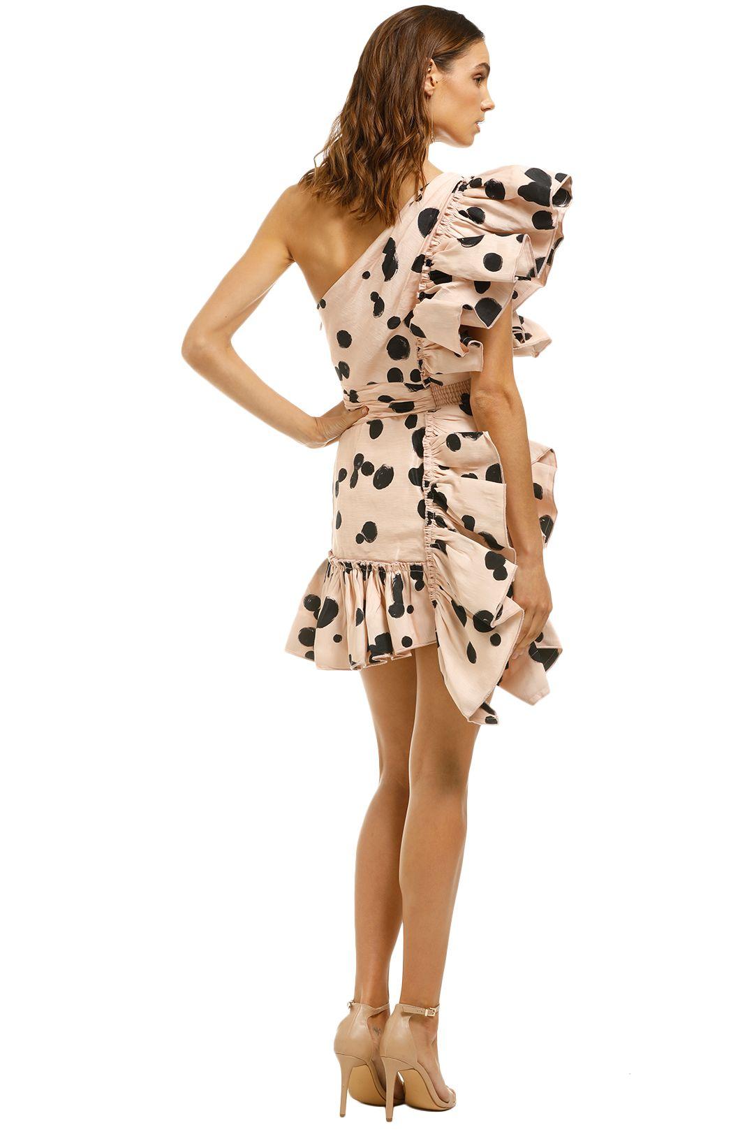 AJE-Beronia-Dress-Nude-Spot-Back