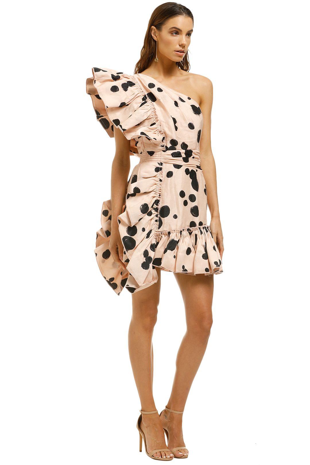 AJE-Beronia-Dress-Nude-Spot-Side