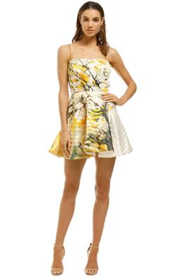 AJE-Chelsea-Dress-Yellow-Print-Front