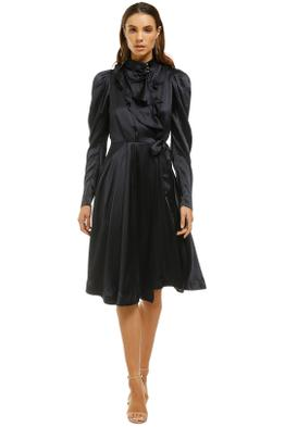 AJE-Embudo-Midi-Dress-Navy-Front